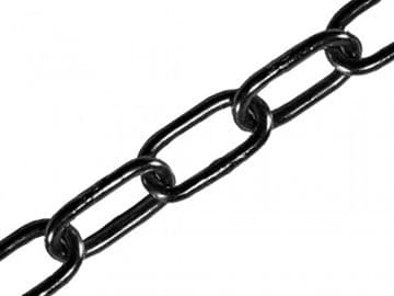 Black Japanned Chain 2.5mm x 2.5m - Max. Load 50kg